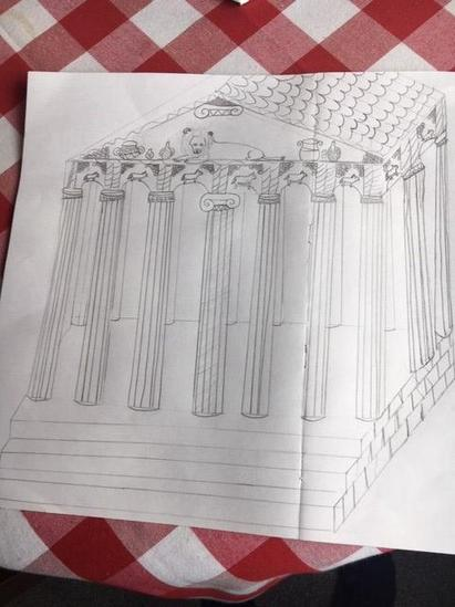 Bella's drawing of a temple