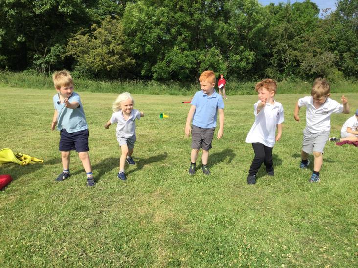 Boys long distance race on Sports Day