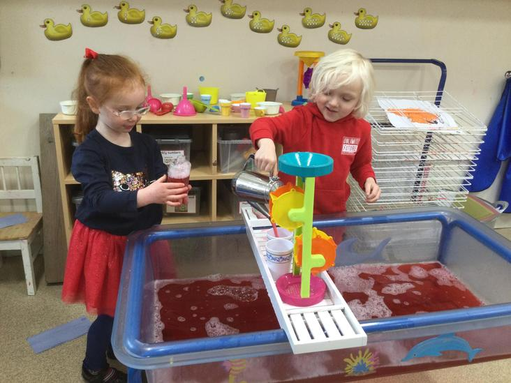 Red water play