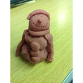Play dough snowman