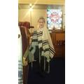 Isabella playing the Rabbi