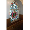 Stained glass window depicting Sukkot