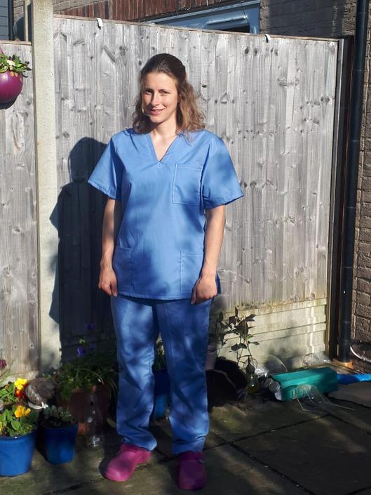 Mrs Sweet makes scrubs!