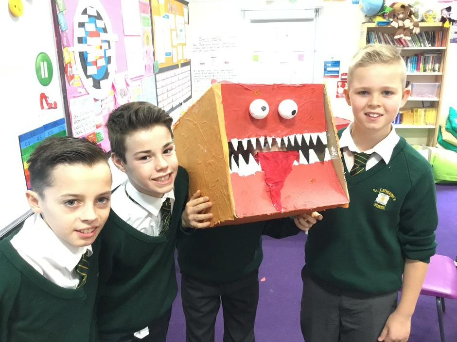 Year 6 Dragon head challenge