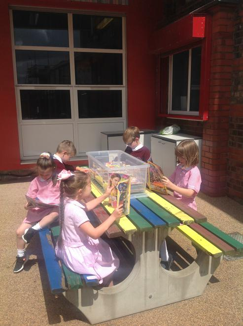 Our Outdoor Reading Area