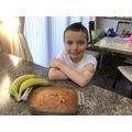 Luke's baked banana bread