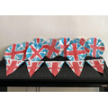 Archie's VE Day bunting makes