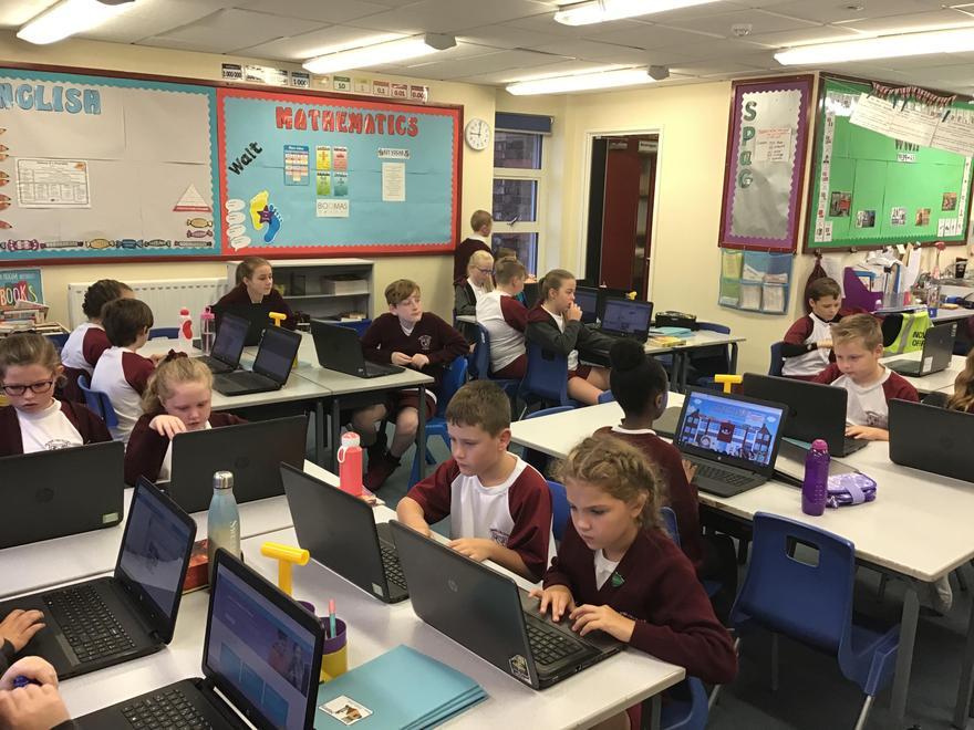 Year 6- Designing their own programs on CodeStudio