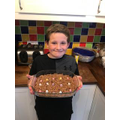 Archie making cakes at home