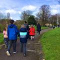 Walking to Newsham park.