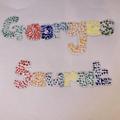 Caitlin's Pointillism word art