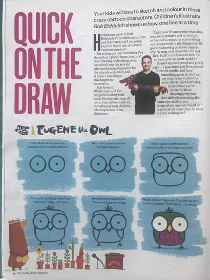 Read about Rob and have a go at drawing Eugene