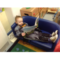 We looked for unusual places to read books.