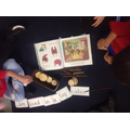 Building sentences using props based on our story.
