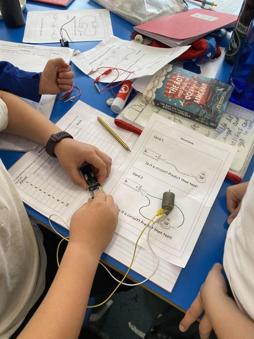 We looked at different pictures of circuits.