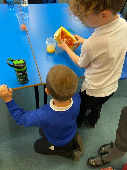 We measured the liquids.