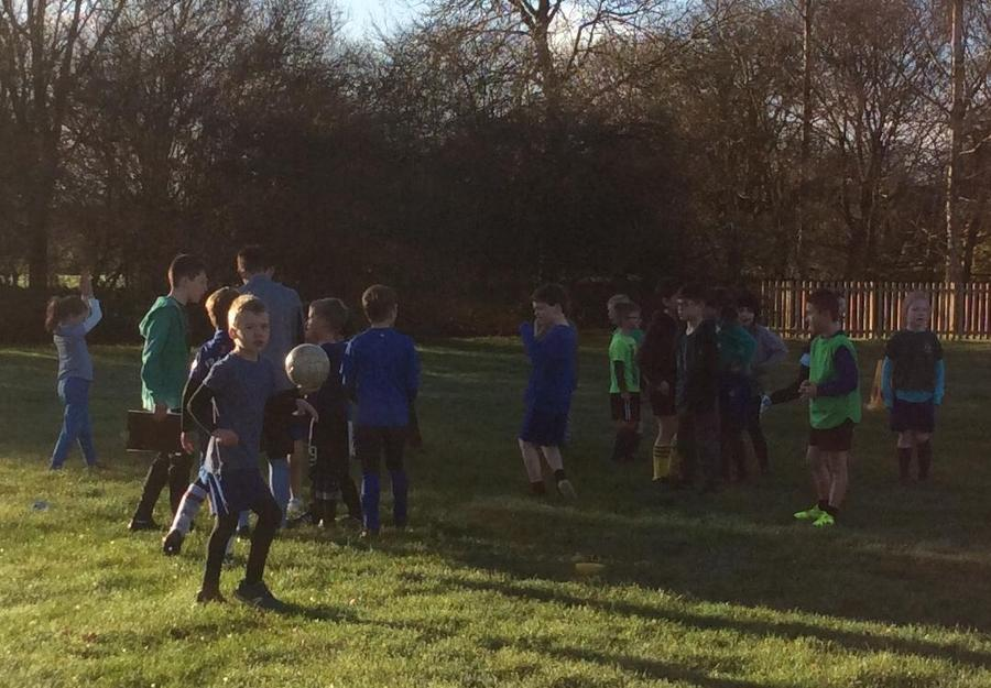 Teamwork during the whole school football tournament