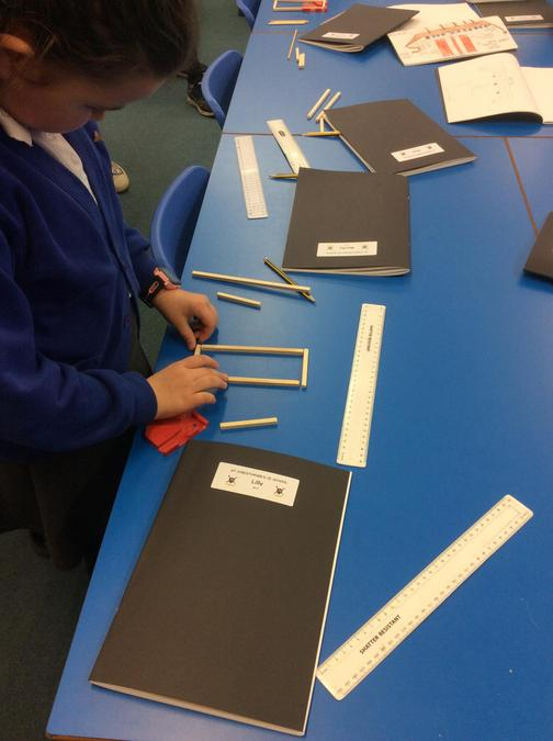 We began by making a rectngular frame.