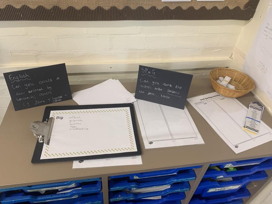 English and SPaG provison set up