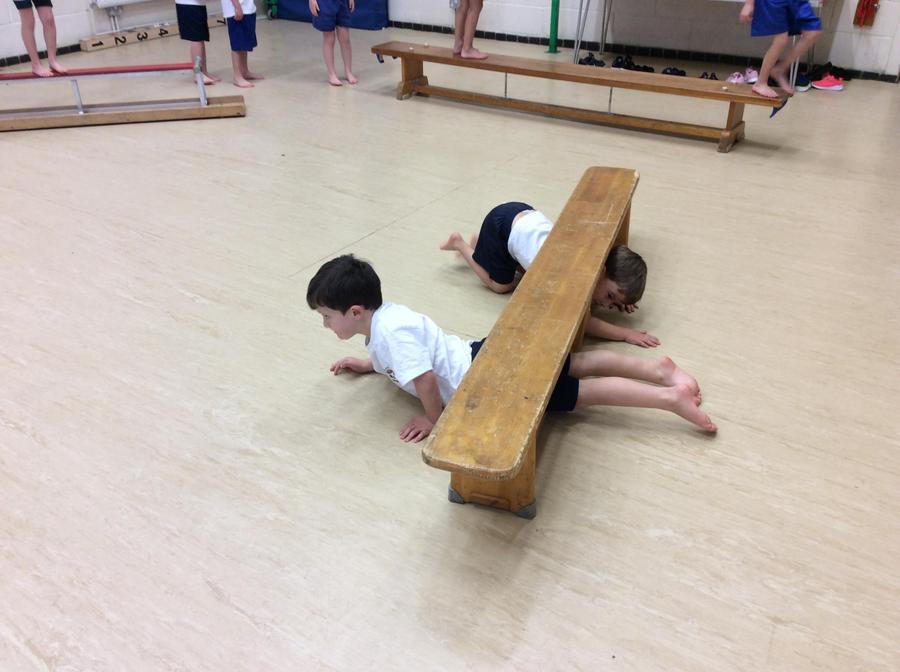 PE gymnastics.