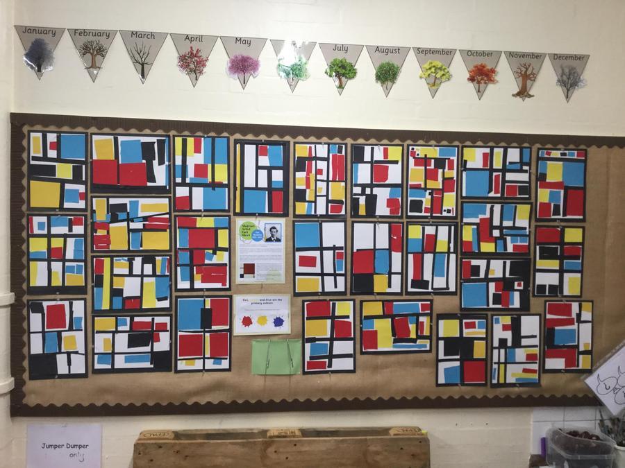 Piet Mondrian inspired work (KS1)