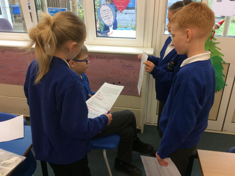 We role played the scene from 'A Christmas Carol'