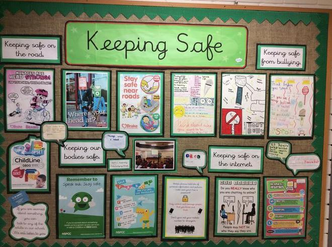 keeing safe at home, in school and on the internet