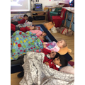 We acted out the '10 in a bed' song!