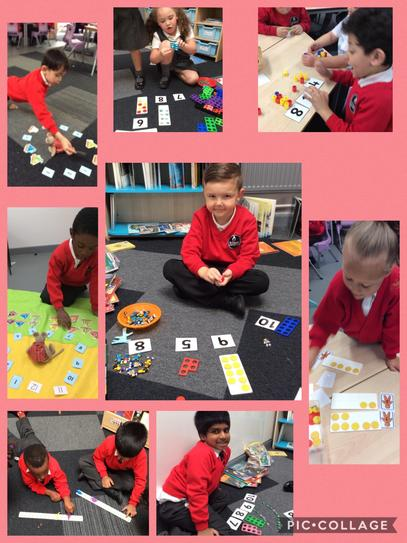 We are learning how to represent numbers, order and identify 1 more and 1 less.