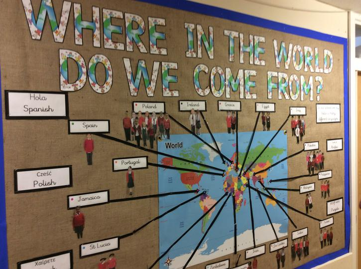 We come from all over the world at our school.