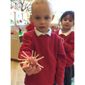 Making spiky hedgehogs!