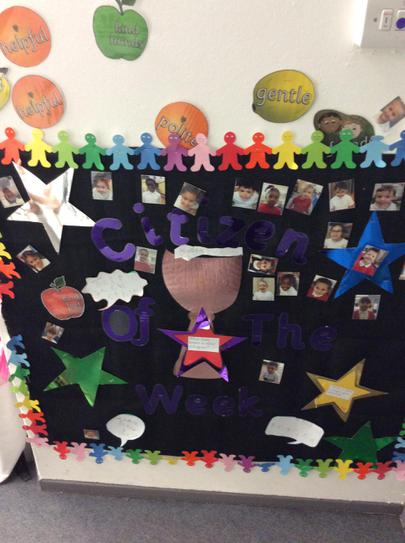 Reception have a Good Citizen Award every week