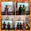 Dressing up as our favourite book characters.