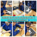 Year 5 getting stuck in to textiles