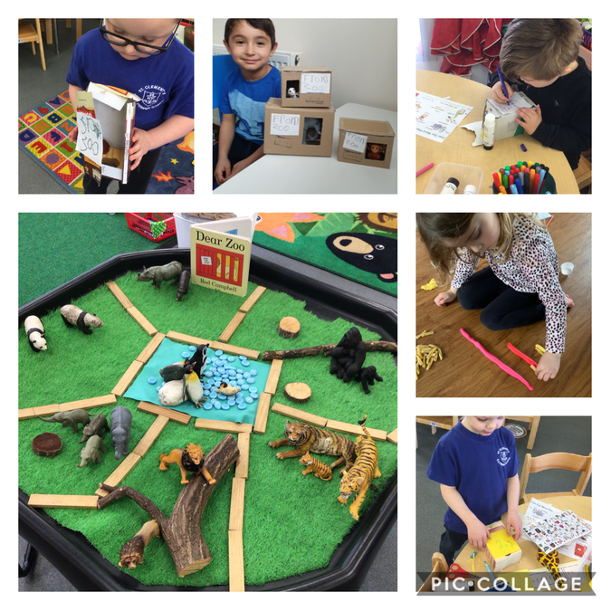 We have shared the story 'Dear Zoo' and made enclosures for different sized animals