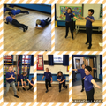 Testing our fitness levels in PE.