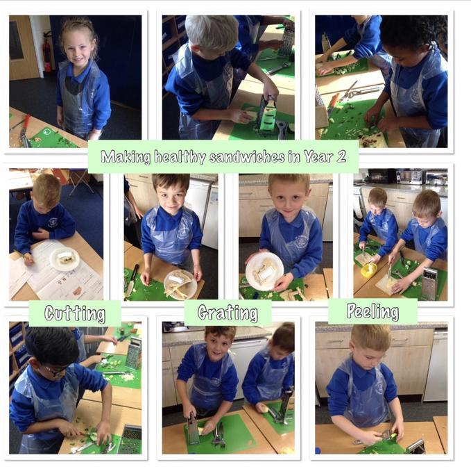 Year 2 creating health sandwiches