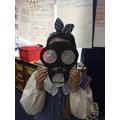 Finished gas mask.