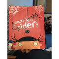 We read the story Aaaaaargh Spider! by Lydia Monks