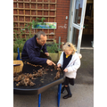 We love learning in the outdoor area