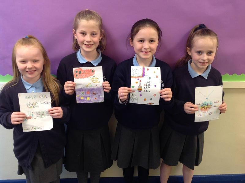 "We made our own book covers for ""George's Marvellous Medicine"""