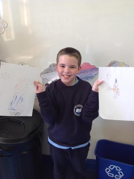 Ethan's Quentin Blake illustrations.