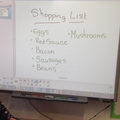 Shopping list ready to go!