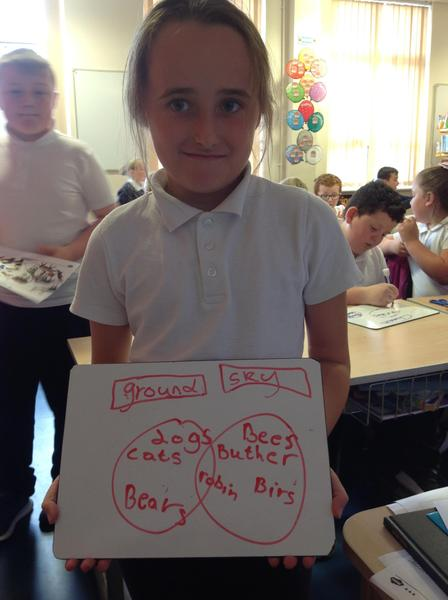 Some of us practiced making our own Venn diagrams!