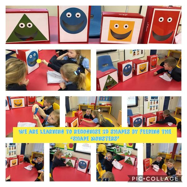 LSC1 had fun learning about 2D shapes by feeding the 'Shape monsters'.