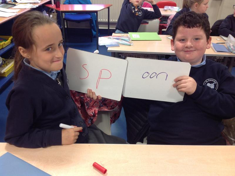 Making weekly spellings with a partner