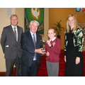 Mr Conway presents the Gerard Conway Cup to Catherine Murphy