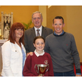 Katie Marley, her father with Mrs McKee & Mr Cush
