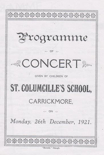 Concert programme: Front cover