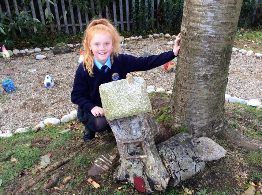 Amelia-Rose's family donated a Fairy House